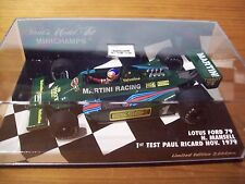 1/43 Lotus 1979 Ford Martini 79 Nigel Mansell Test de Paul Ricard