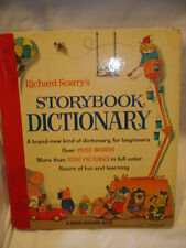 Richard Scarry Storybook Dictionary -1966 Vintage Hardcover Full Color Pages