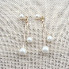 E982 Forever 21 Bridal Bridesmaid Wedding Accessories Dangling Pearl Earrings US