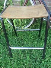 Vintage Retro Science Lab School Stacking Seat Kitchen Stool Industrial-courier