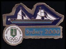 British Virgin Islands NOC Pin Badge~Sydney, 2002~National Olympic Committee