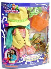 New FISHER PRICE DORA THE EXPLORER Dress Up Collection Beach Adventure & Book