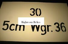WWII Light Mortar German Box Container Stencil 30 5cm Wgr. 36 For Restoration