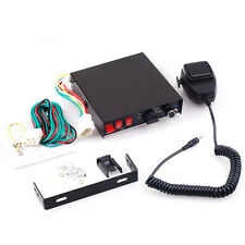 100W Electronic Siren Box Microphone PA System Security Alarm 8 Tones
