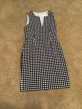 J Crew Suiting Woman's Size 6 Black/White Sheth Career Dress Size 6