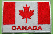 Ecusson patch brodé thermocollant drapeau Canada