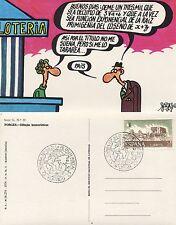Lotería Nacional. Tarjeta postal. Serie G- Dibujos humorísticos de Forges. Nueva