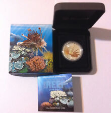 2009 Lionfish Lion Fish Sea Life 1/2oz Silver Proof Coin
