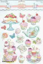DOVECRAFT GLITTER STICKERS - CUPCAKES RANGE DCST047 -  DESERTS CUPCAKES - CAKES