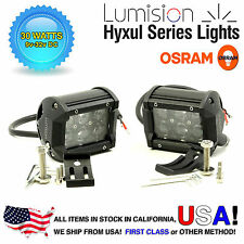 "Lumision Osram Pair LED 30W 4"" Work Light Bar Spot Hyxul Truck RV Boat 2700LM"