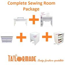 Tailormade Complete Deal- Sewing, Cutting & Overlocker Table, Storage Options