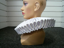 SUPER DELUXE - Elizabethan Frilled Collar / Ruff - White - Adult Size
