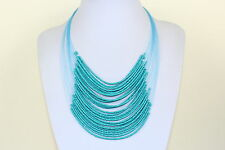 Turquoise Coloured Choker Masai Necklace Maasai Beads Multi Layers Choker