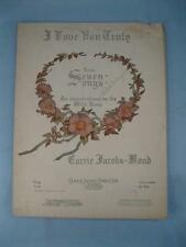 I Love You Truly Sheet Music Vintage 1906 Copyright Carrie Jacobs Bond Voice (O)