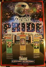"New England Patriots Pride History of Victory Super Tickets 36 x 24"" Poster"