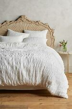 Anthropologie Marcellina King Duvet Cover, White, NIP