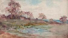 MARCUS ADAMS Watercolour Painting IMPRESSIONIST ENGLISH LANDSCAPE c1930