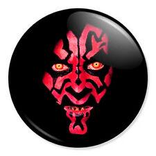 """STAR WARS - Darth Maul 25mm 1"""" Pin Badge Button George Lukas Sith Jedi Yoda"""