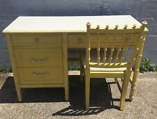 Thomasville Allegro Faux Bamboo Writing Desk & Chair Chinoiserie Campaign