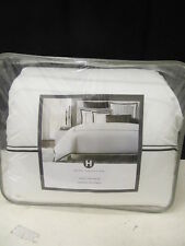 Hotel Collection Coordinated Basics White Black  Twin or Twin XL Comforter  NIP