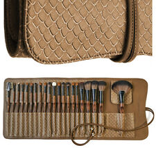 LA FERRA High Quality Professional Makeup Brushes with Soft Leather Case - 21 PC