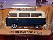 GreenLight 1/64 1972 Volkswagen Type 2 - Grn/Wht - Volkswagen Hobby Exclusive'16