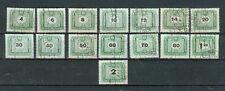 Briefmarken Ungarn 1953 Portomarken Mi.Nr.203-8+10+12+14-20