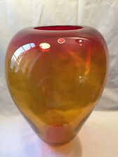 Very Large Vintage Murano Vase Signed And Labelled Circa 1950/60s