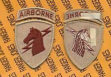 US Army 1st Special Operations Command Airborne SOCOM Desert DCU patch m/e