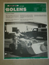 VINTAGE Kwik-Way LOADER SPEC SHEET SALES BROCHURE for BOLENS TRACTORS