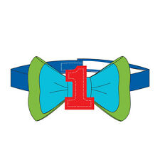 1st BIRTHDAY BOY RAINBOW  BOWTIE ~ First Party Supplies Favor Accessory Baby