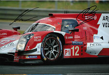 Nick Heidfeld and Nicolas Prost Hand Signed Rebellion Racing Le Mans 12x8 Photo.