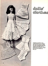 BARBIE 11 1/2 INCH FASHION DOLL CLOTHES - VINTAGE CROCHET PATTERN