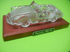 PORSCHE 356 SC GLASS CRYSTAL CAR AUTOMOBILE PAPERWEIGHT IN EXCELLENT CONITION