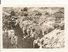 WWII 1940s USMC South Pacific Marines SMALL Photo #9 tractors GI's move supplies