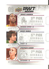 2009-10 UD DRAFT EDITION STEPHEN CURRY JAMES HARDEN RICKY RUBIO ROOKIE RC #D-HRC