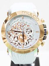 Mulco MW3-14067-413 Brand New L'Fleur Hortensia Ice Blue Silicon Chrono Watch