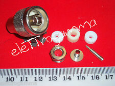 spina connettore tipo N type plug per cavo coassiale RG58 5mm