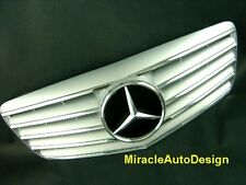 FRONT GRILLE (SILVER) FOR 2007-2009 MERCEDES BENZ W211 E-CLASS (FACELIFTED)