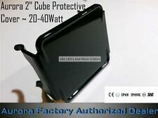 """Aurora LED 2"""" Cube Off-Road Light ~ W Series Snap on Black Protective Cover"""