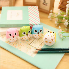 1Pc Cute Standing Owl Shape Pattern Student Office Pencil Sharpener Random Color