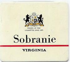 Sobranie Virginia Straight Cut Cigarettes Hinged Metal Cigarette Tin