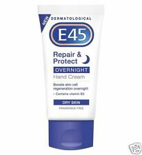 E45 Repair & Protect Overnight Hand Cream Dry Skin Vitamin B3 Boost Cells 50ml