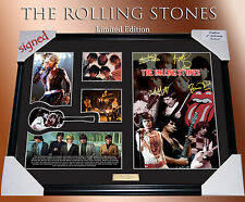 THE ROLLING STONES  LIMITED EDTN   SIGNED FRAME COA