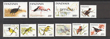 Tanzania 1990 Birds/Raptor 'Official' 10v set (s2541)
