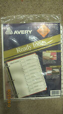 "15 Table of Contents Index Dividers By Avery use w/ Laser Printer NEW! 8.5""x11"""