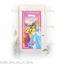 DISNEY PRINCESS GIRLS BIRTHDAY DECORATION PARTY IS HERE DOOR BANNER