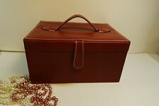 Make up case,jewelry box, box with handles, mirror and working magnet closure,