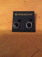 $48 Givenchy Swarovski Pave Drop Black Earrings #400 (6)