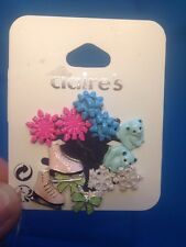 Six Pairs Of Claire's Winter Themed Earrings Ice Skates Bears And More